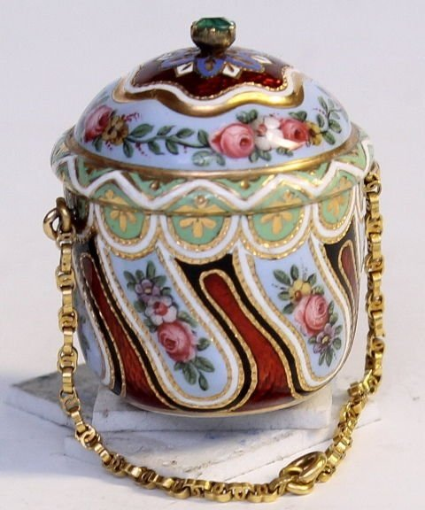 Swiss Gold and Enamel Vinaigrette