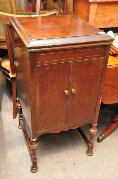 - A Mahogany Gramophone Cabinet By HMV Model 156, Having