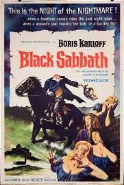 BLACK SABBATH 1964 sexy horror horseman poster 40x60