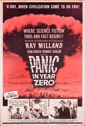 Panic In Year Zero 1962 Nuclear Bomb Mushroom Cloud