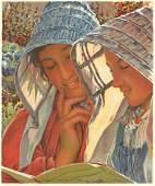 LISEUSES 1899 1900 lithograph literary