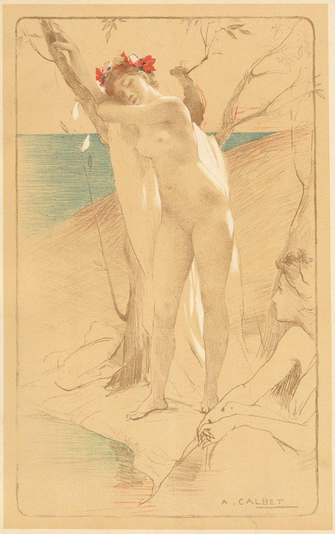 L' INCONNUE 1899 1900 lithograph Art Nouveau