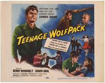 TEENAGE WOLFPACK lobby card 1957