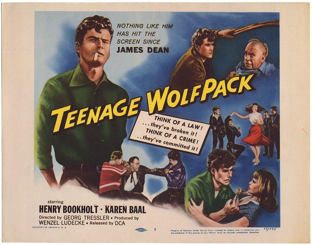 TEENAGE WOLFPACK lobby card 1957
