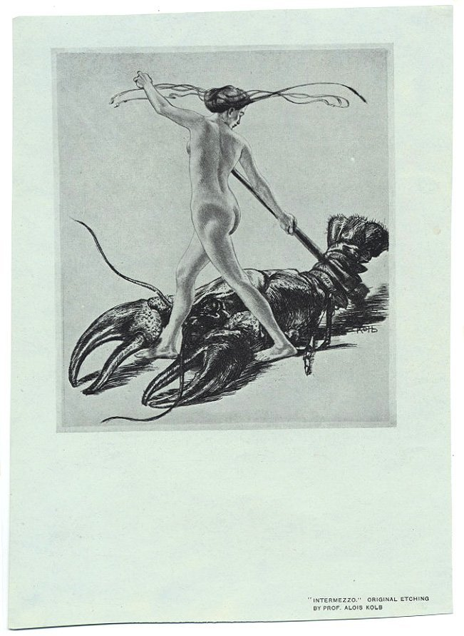 INTERMEZZO German etching offset lobster