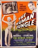 THE HUMAN JUNGLE 1954 cardstock silkscreen sexy