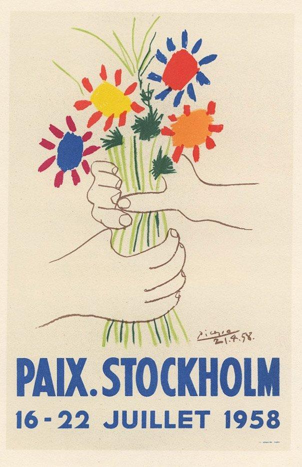 PAIX STOCKHOLM Picasso lithograhp Mourlot
