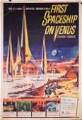 FIRST SPACESHIP ON VENUS (1962) sci-fi iconic poster