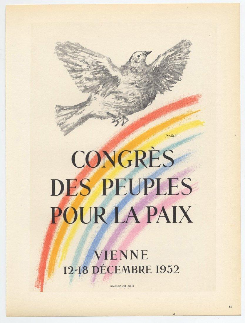 CONGRES DES PEUPLES POUR LE PAIX Picasso lithograph