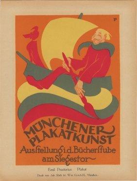 Munchener Plakatkunst Lithograph 1916
