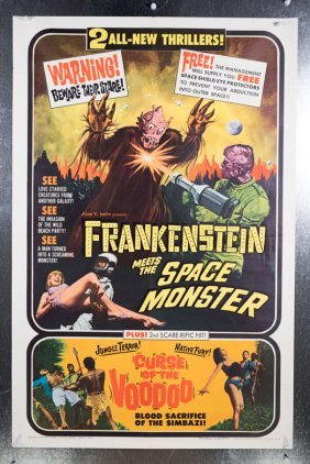 Frankenstein Meets The Space Monster (1965) 27x41