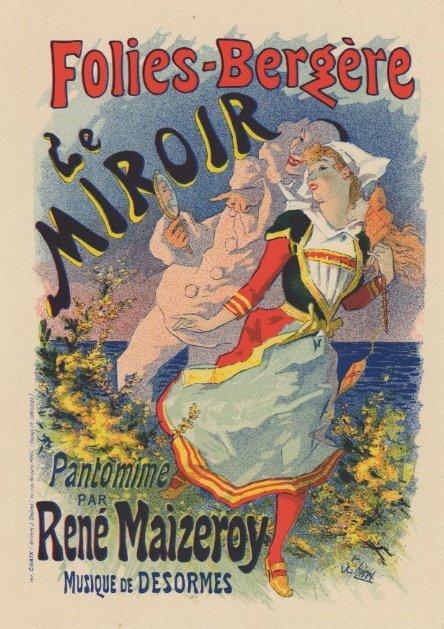 FOLIES BERGERE Cheret lithograph