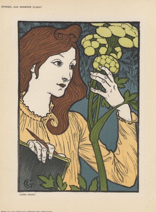 SALON DES CENT Grasset art nouveau lithograph