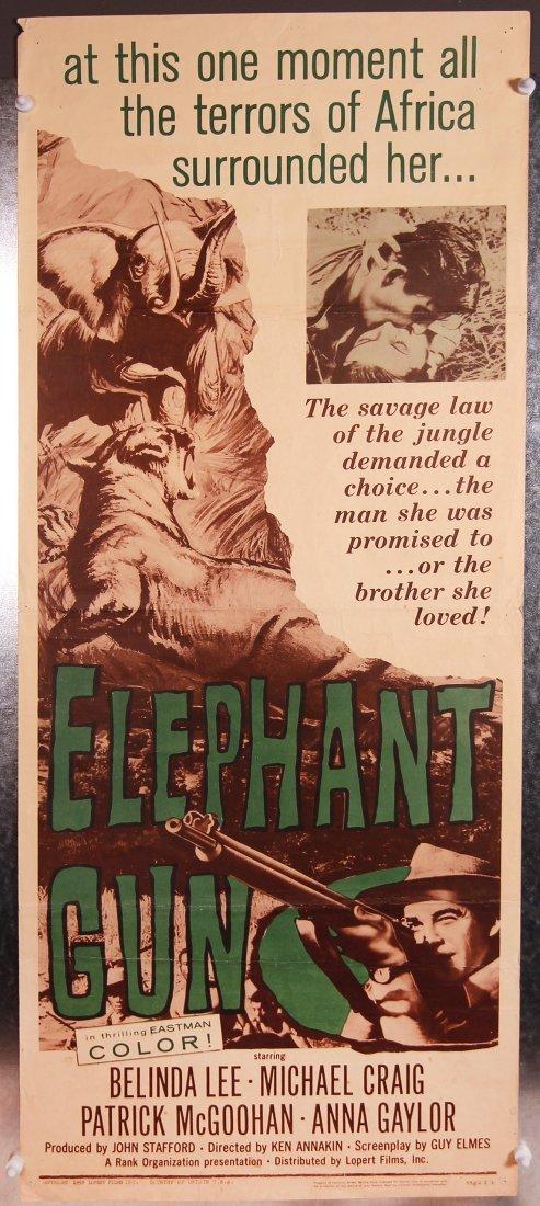 ELEPHANT GUN 1959 movie poster African drama jungle