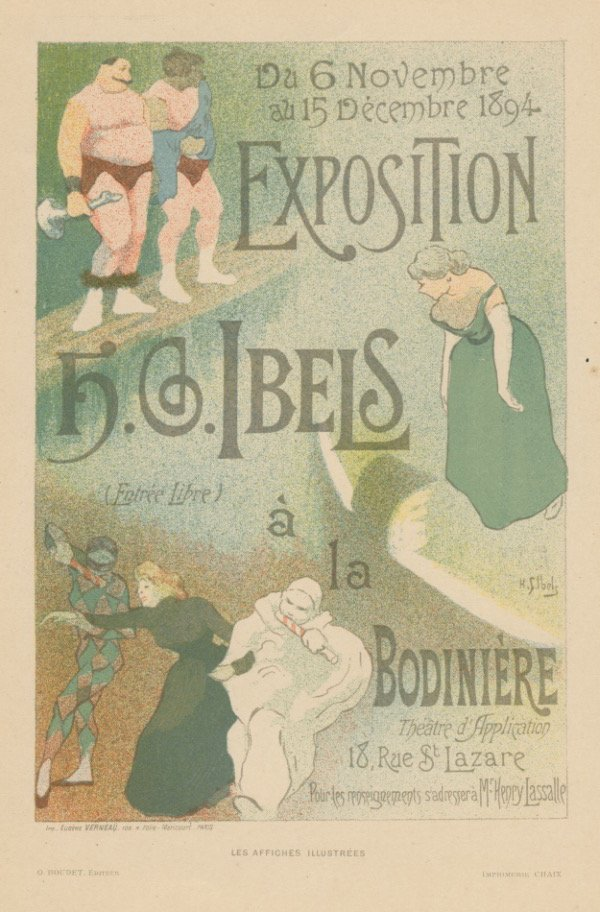 HG IBELS EXHIBITION theatre lithograph 1890