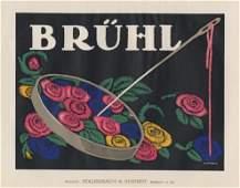BRUHL flowers lithograph 1912