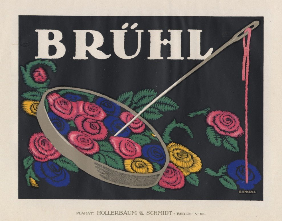 BRUHL flowers lithograph 1912
