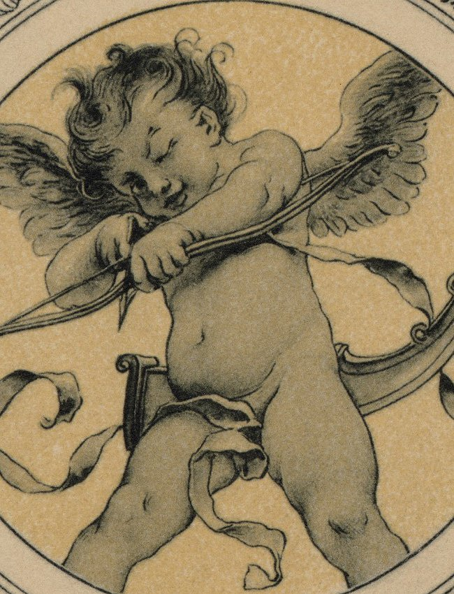 Symbolist lithograph Love Mermaids 1895 - 4