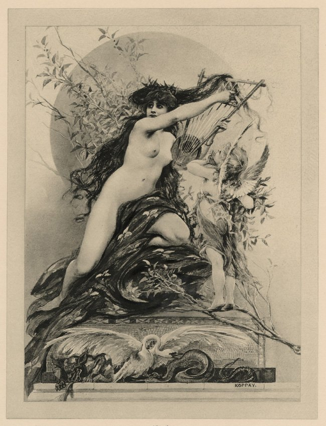 Music Symbolist lithograph Classical 1895