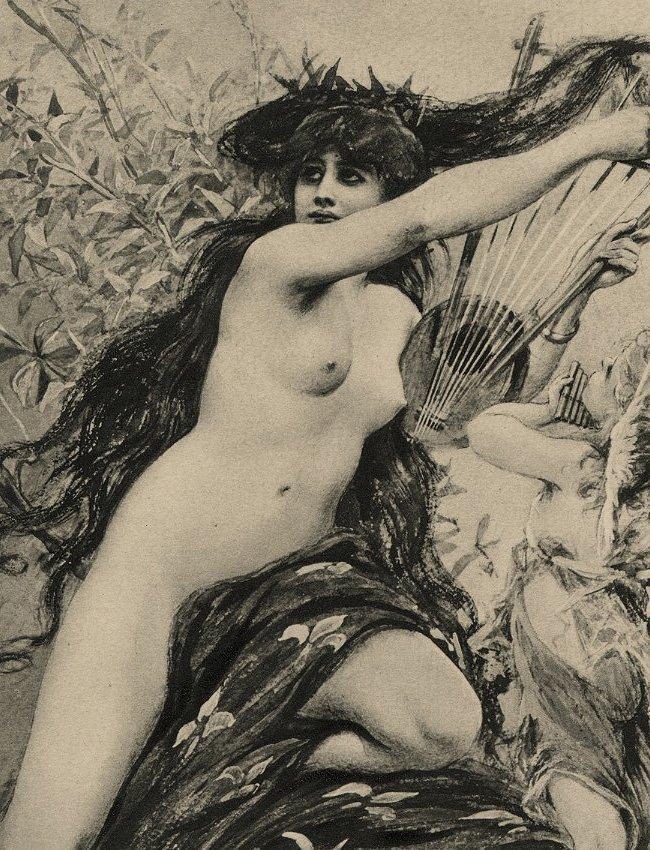 Music Symbolist lithograph Classical 1895 - 2