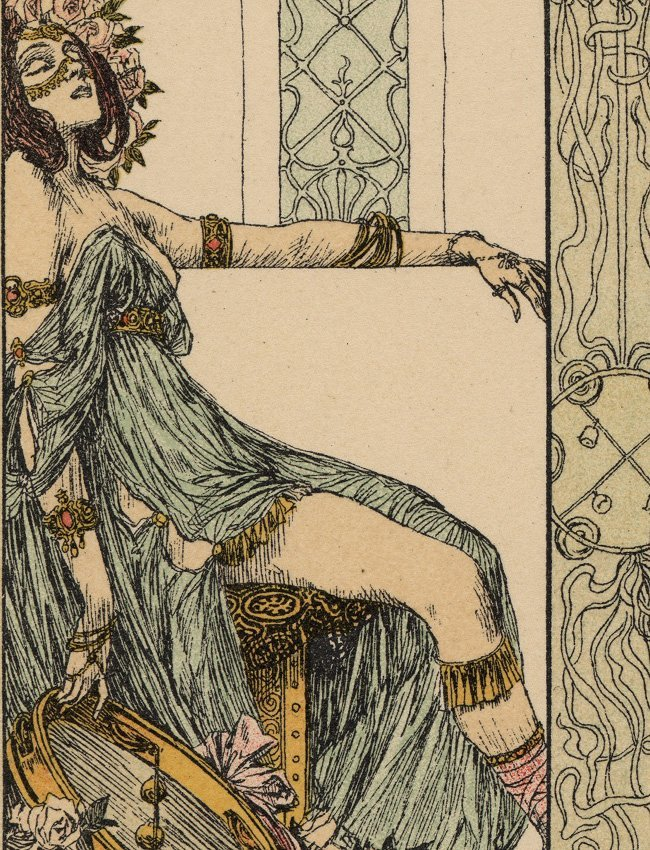 Song Music Dance Symbolist lithograph Classical - 2