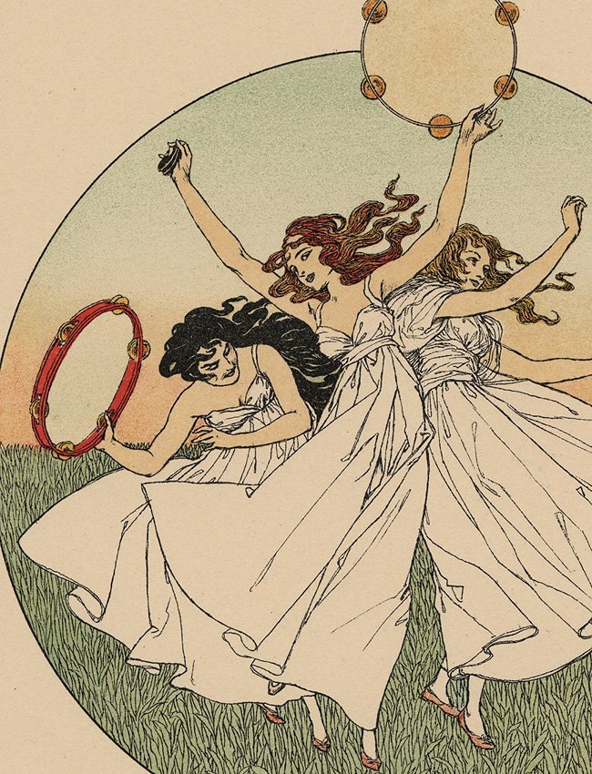 Song Music Dance Symbolist lithograph Classical - 5