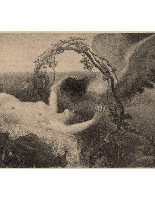 Love Symbolist lithograph 1895 - 2
