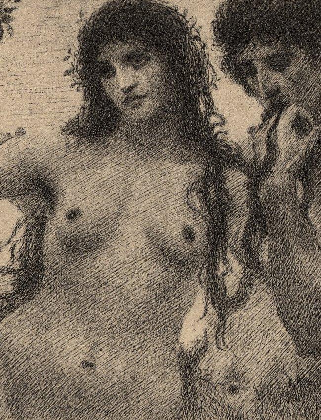 Love Symbolist lithograph 1895 - 3