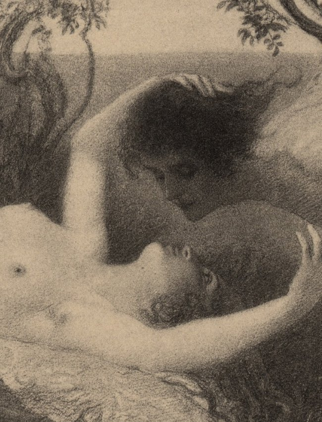 Love Symbolist lithograph 1895 - 4