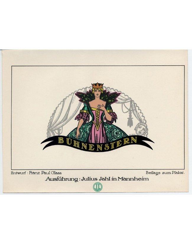 Actress German Wiener Werkstatte rare cigarette paper