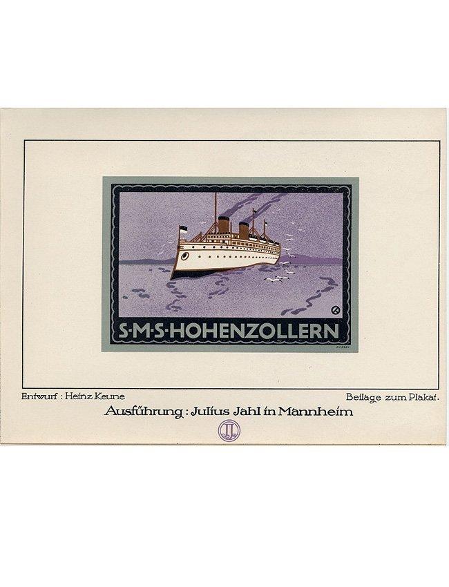 Steam ship cigarette papers Art Deco