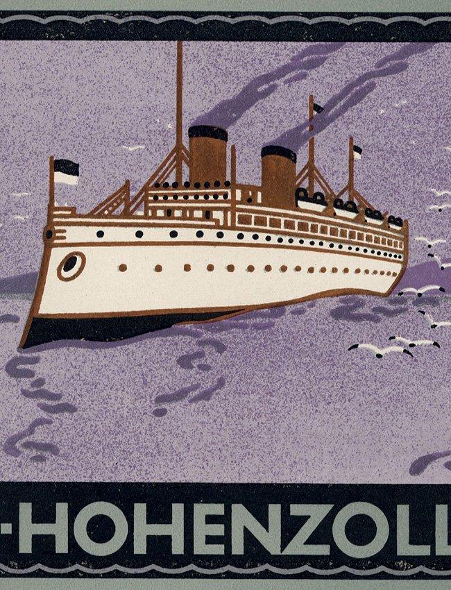 Steam ship cigarette papers Art Deco - 2