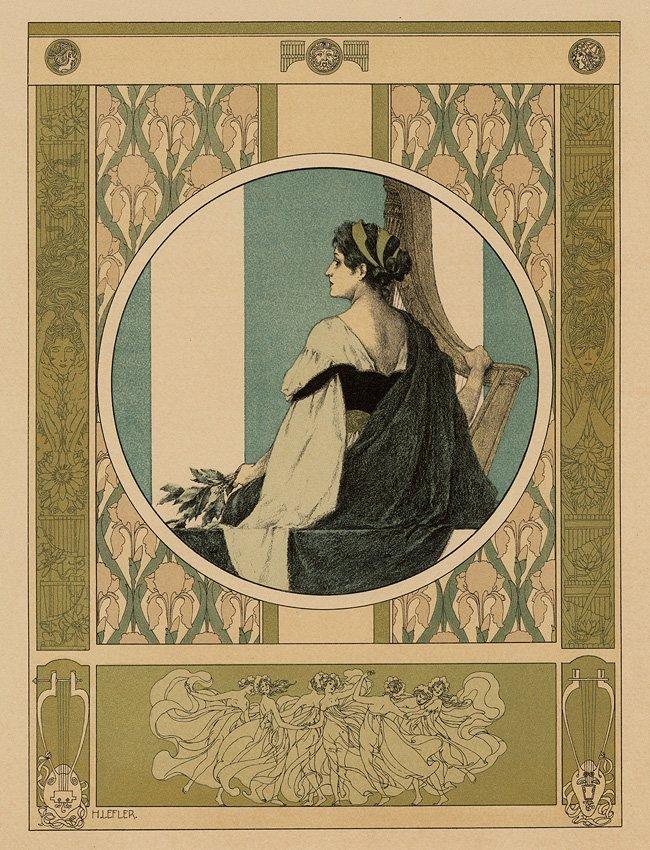 Music Dance Symbolist lithograph 1895