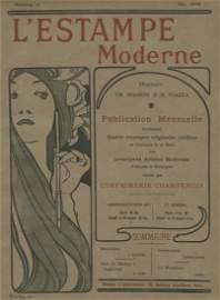 L'Estampe Moderne Mucha cover lithograph 1898