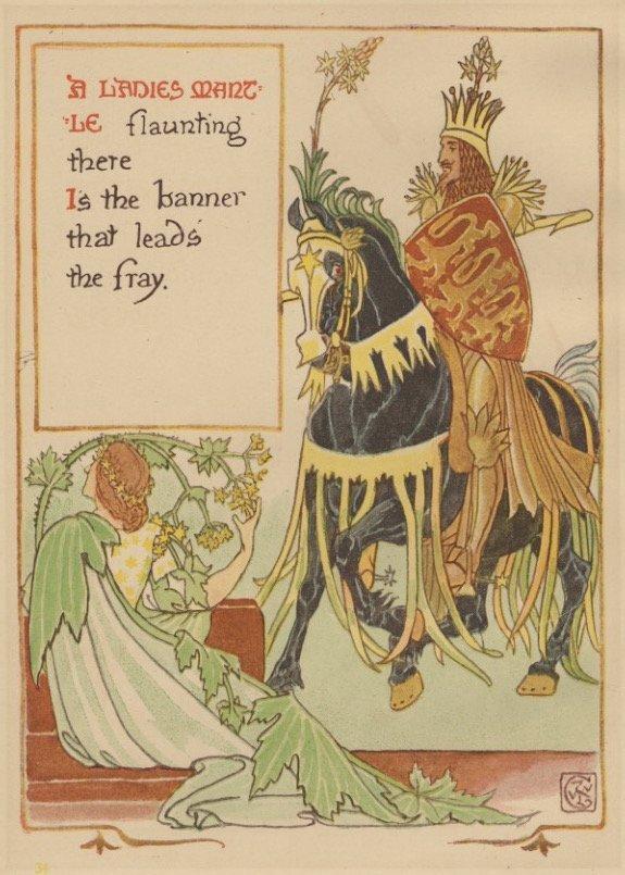 Ladies Mantle Crane garden lithograph 1899