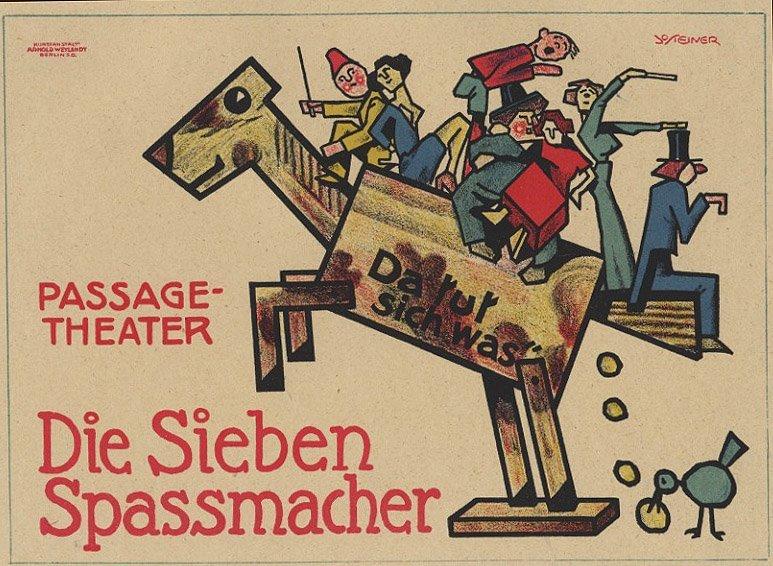 DIE SIEBEN SPASSMACHER German toy lithograph 1912