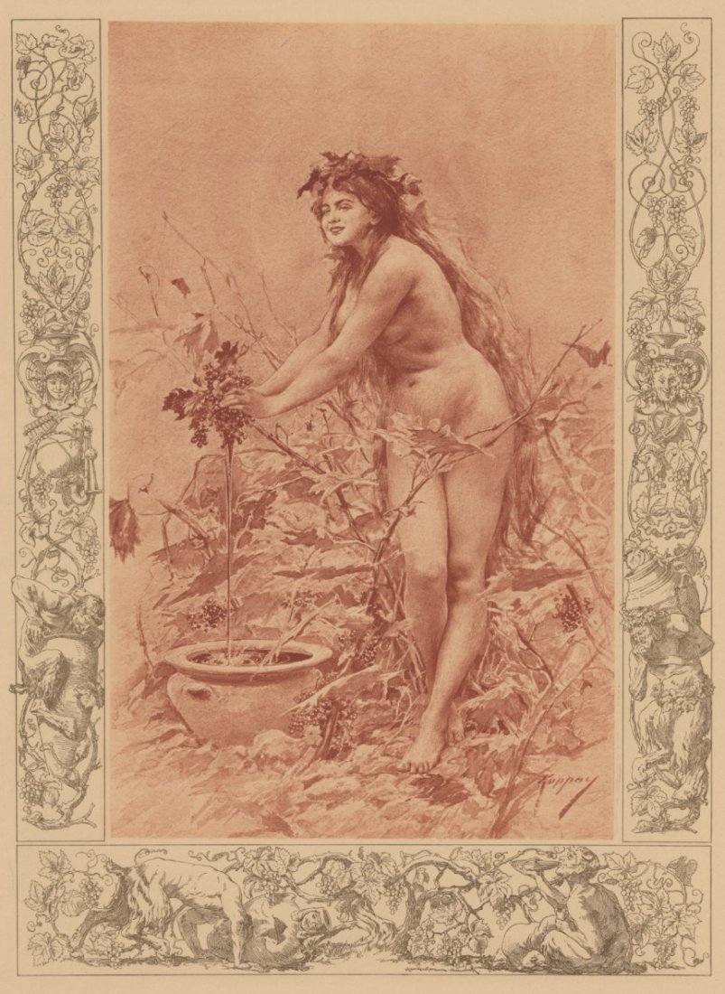 Wine classical lithograph 1895