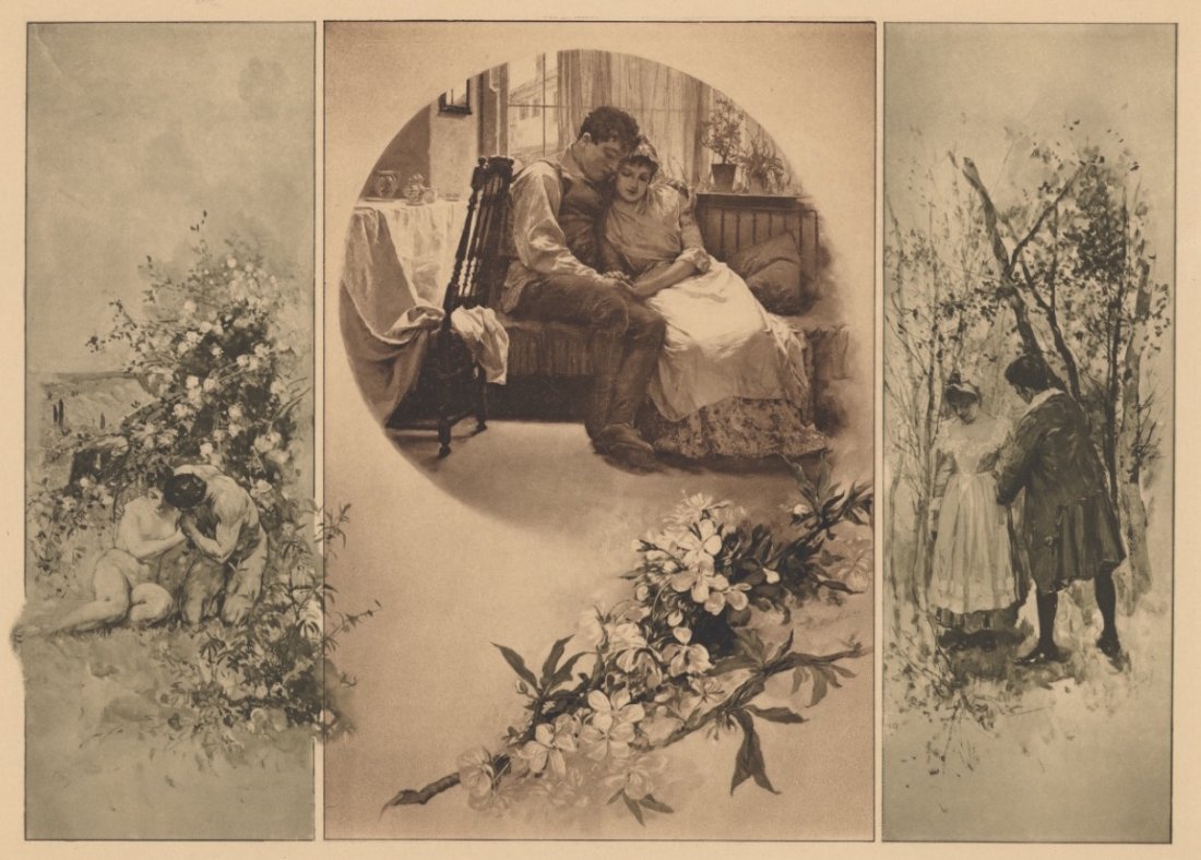 Betrothed classical lithograph 1895