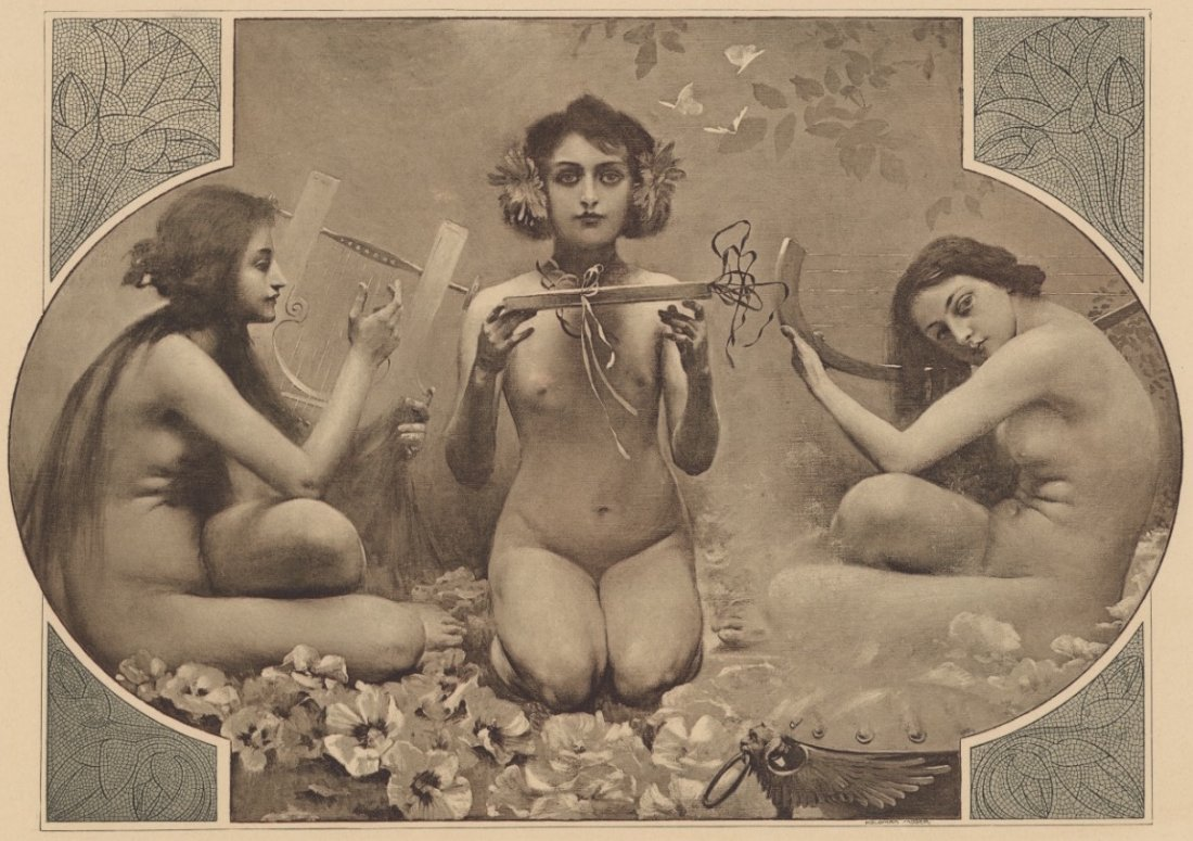 Music symbolist Moser lithograph 1895