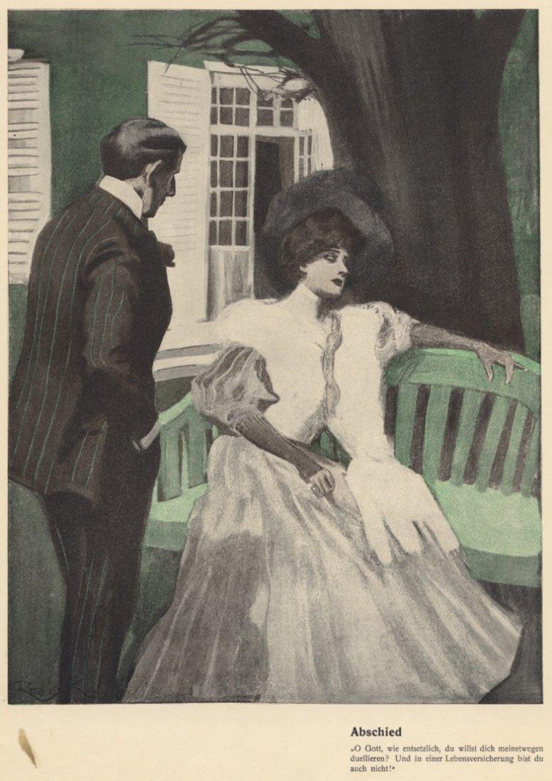 Goodbye German society ladies Munich 1900-1910 artwork