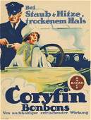 CORYFIN BONBONS German society Bayer lithograph c.1915