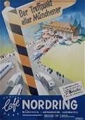 CAFE NORDRING Art Deco travel poster c. 1936