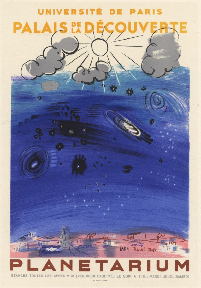 PLANETARIUM Dufy lithograph Mourlot 1959