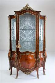 Louis XV Style Ormolu & Kingwood Vitrine