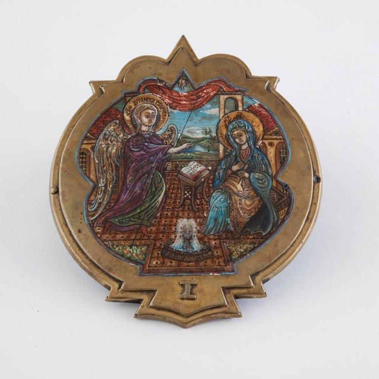 Russian Enamel Icon
