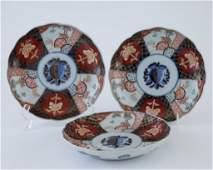 Set of 3 Japanese Imari Porcelain Plates