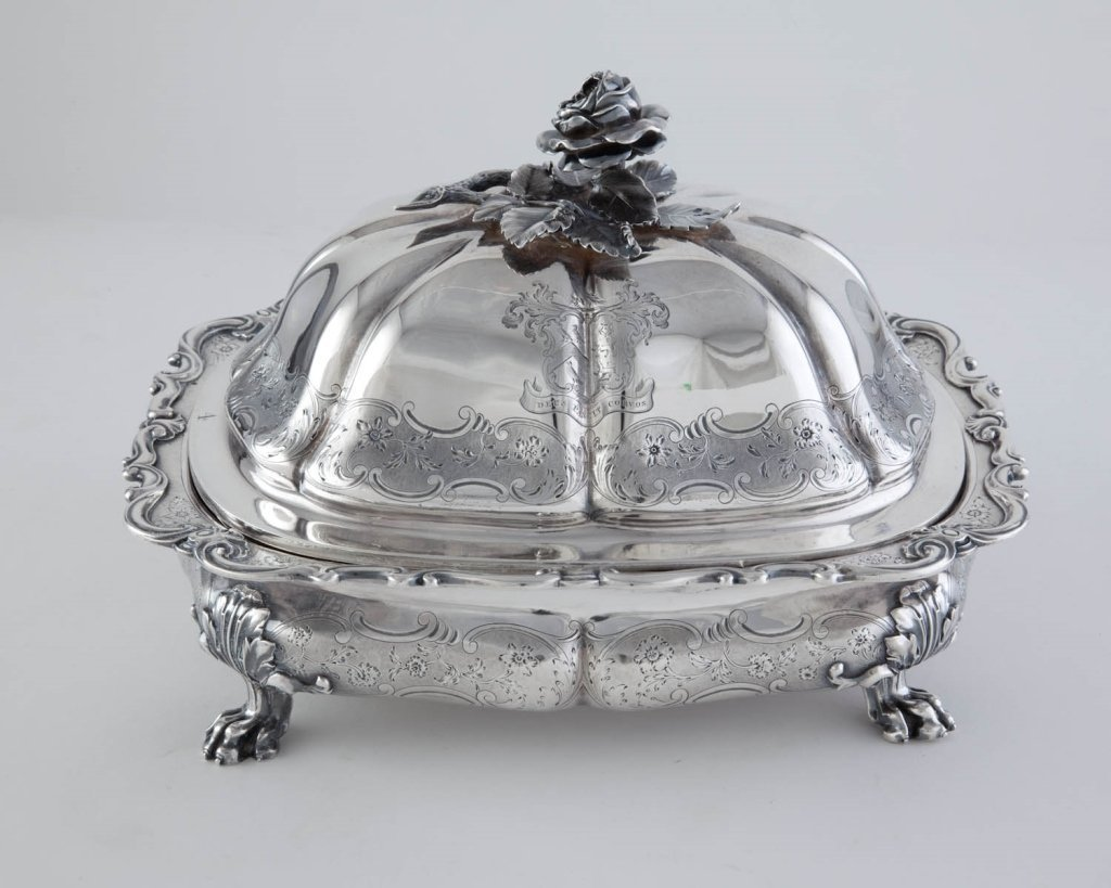 Sterling Silver Footed Entrée Dish by Paul Storr
