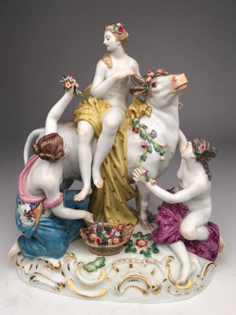 19 th century Meissen group of Europa and the Bull