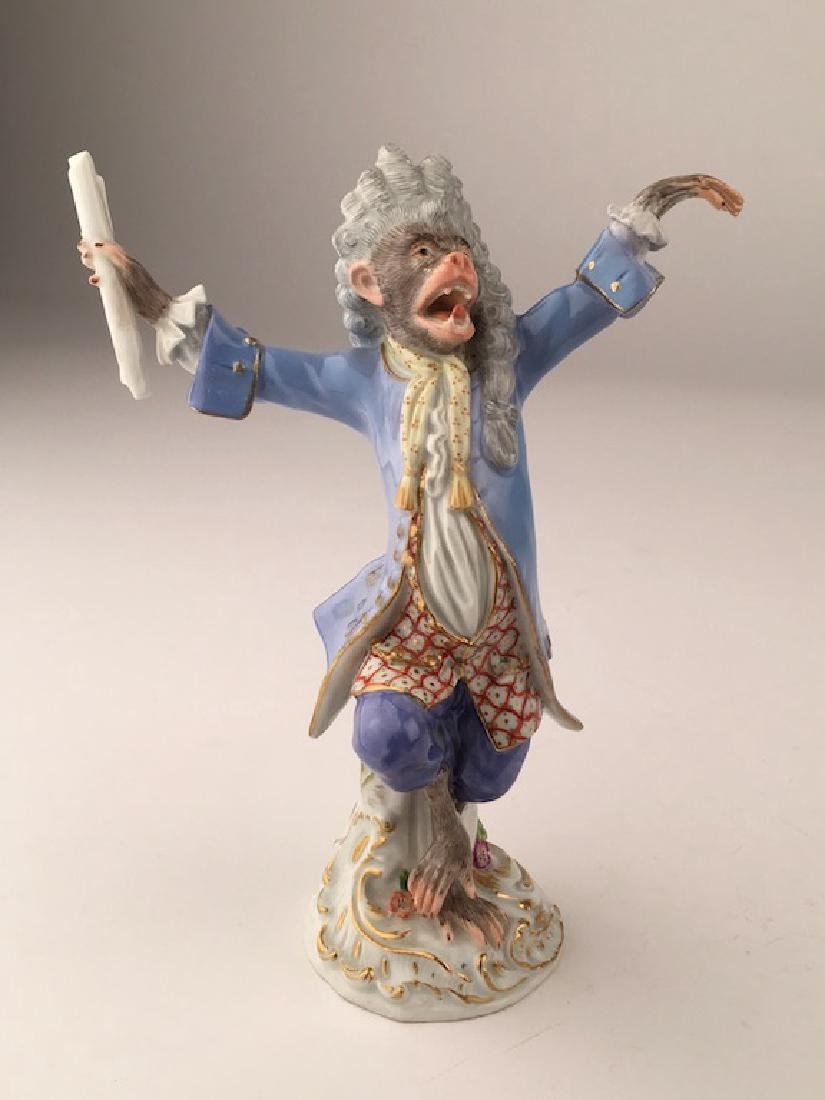 Meissen monkey band member as a conductor.
