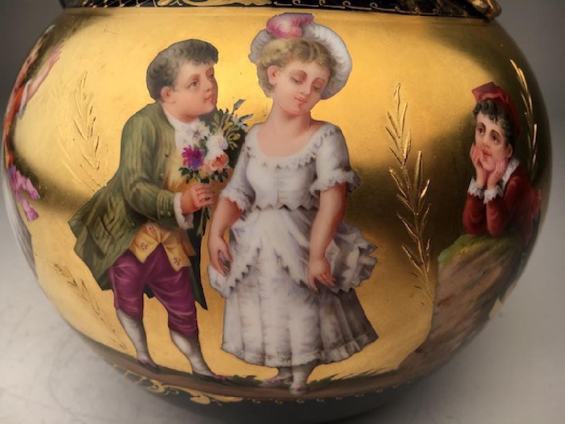 Antique Royal Vienna porcelain tea pot painted with - 5